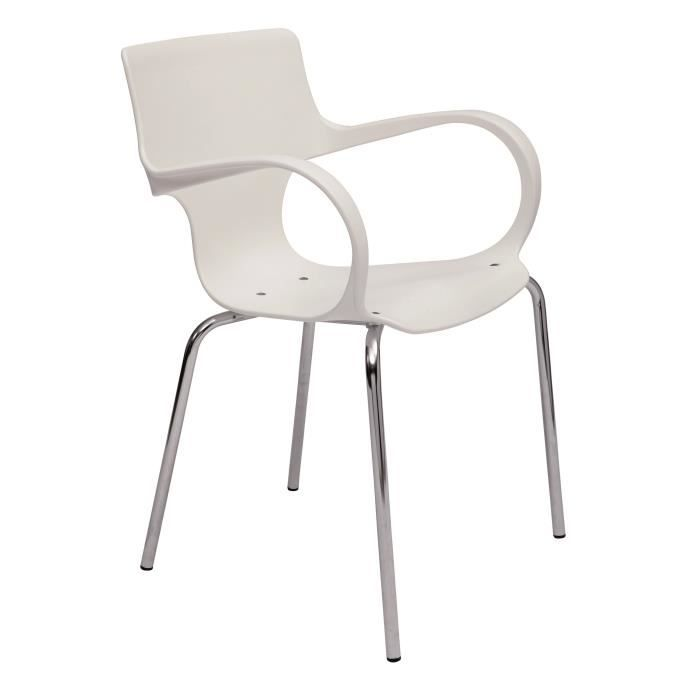 Chaise design empilable blanc achat vente chaise cdiscount - Destockage chaise design ...