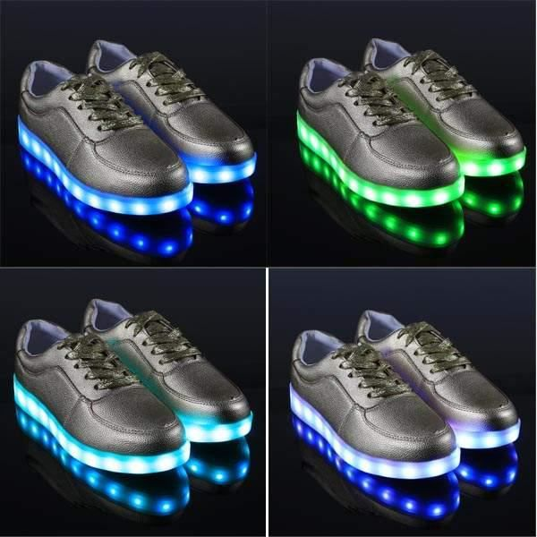 Unisex Cool LED Light chaussures lacets de chau...