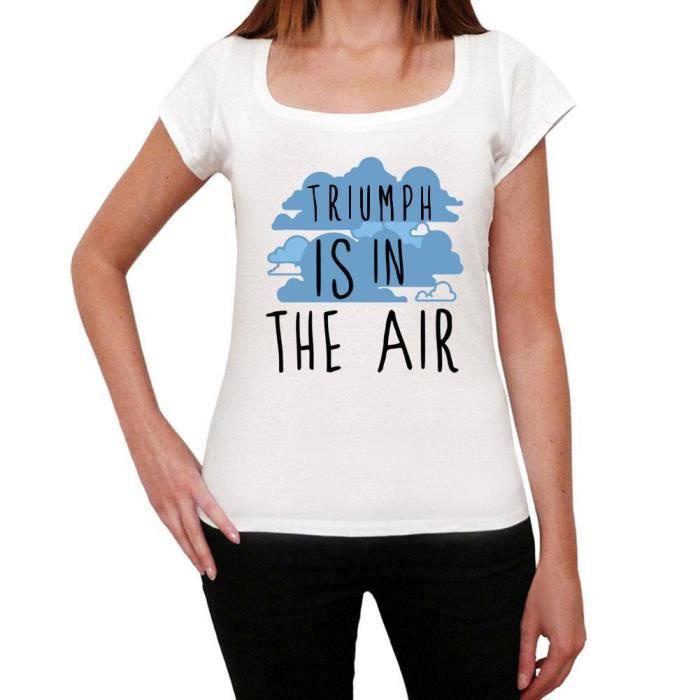 T-SHIRT Triumph in the air, Blanc Femme Tshirt, T-shirt ca