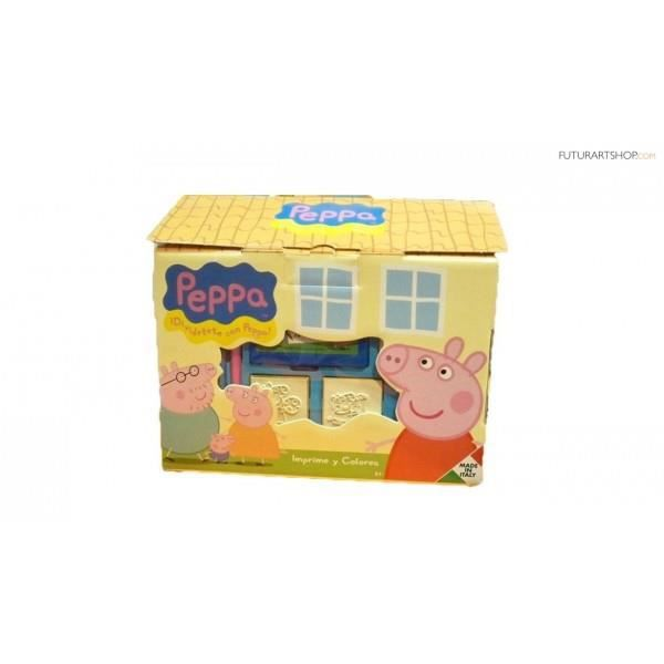 MARQUEUR Cochon de peppa cottage Multiprint timbres 9875