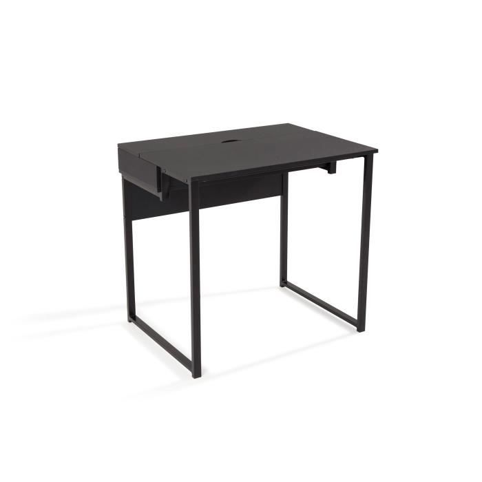 bureau 80 cm bureau 80 cm worky1 bureau 80 cm noir achat vente secr taire worky1 bureau. Black Bedroom Furniture Sets. Home Design Ideas