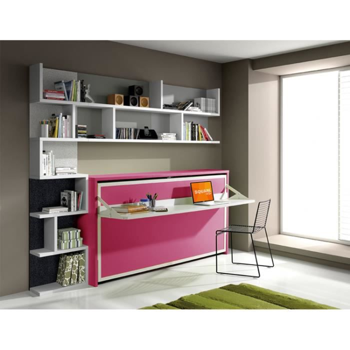 Pin lit escamotable bureau image search results on pinterest for Lit armoire escamotable ikea
