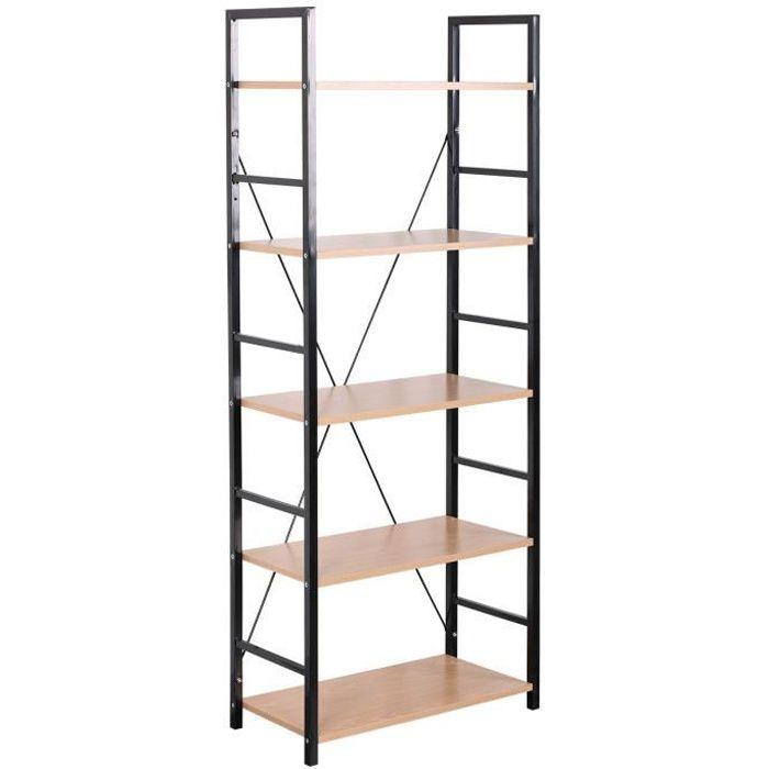etagere industrielle bois metal pas cher. Black Bedroom Furniture Sets. Home Design Ideas