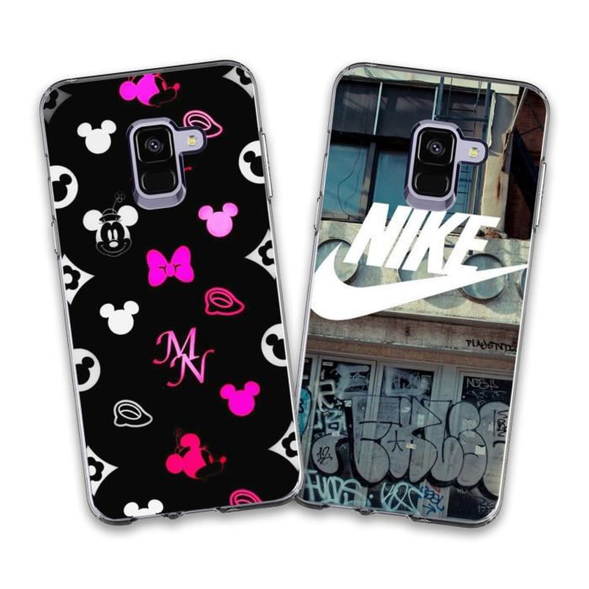 buying now nice cheap outlet 2 X Coque Samsung Galaxy A8 2018,Disney et Nike Doux Souple ...