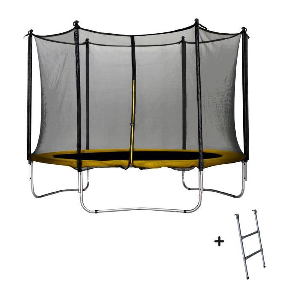 trampoline jaune 305 cm achat vente trampoline cdiscount. Black Bedroom Furniture Sets. Home Design Ideas