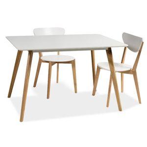 TABLE À MANGER SEULE Table 10 personnes - Milan - 160 x 90 x 75 cm - Bl