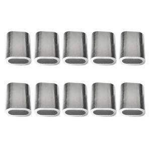 3mm Dia Câble Acier sertissage embouts en aluminium boucle Manchon 15x11x7mm