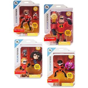 "Disney Boutique Mme INCROYABLE /& Jack-jack figurine Incredibles Toybox 5/"" NEUF"