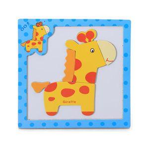 PUZZLE Puzzle 3D en bois magnétique pour animaux  Girafe