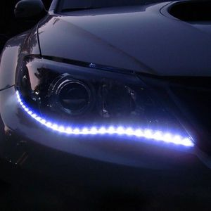 Clignotants Tubes D/Éclairage /À LED en Silicone pour Phares De Voiture G/én/érique Feux Diurnes Clignotants Ultra-Fins Feux Arri/ère 2 Feux Diurnes Imperm/éables Bicolores