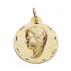 PENDENTIF VENDU SEUL Médaille pendentif Pendentif en or 18 carats 24mm