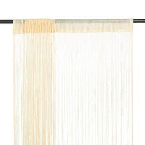 RIDEAU Rideau en fils 2 pcs 100 x 250 cm Crème