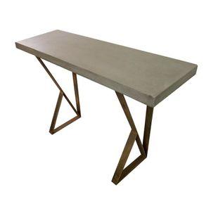 CONSOLE Console béton et métal - meuble contemporain - des