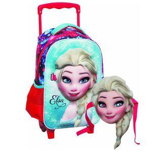 CARTABLE Sac à roulettes maternelle La reine des neiges Els