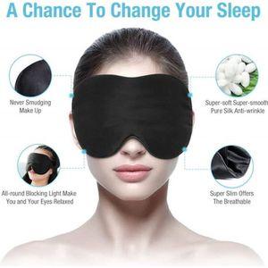 Masque Voyage Masque Nuit Double Face Soie Sleep Masque Obscurité pr Sommeil