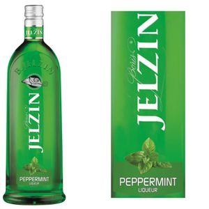 VODKA JELZIN Liqueur de Vodka Peppermint 16,6°