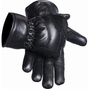 QHA ® Femmes Fille Noir Souple Cuir Véritable Fashion conduite en Hiver Gants