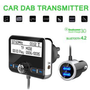 entr/ée AUX LEXXSON Adaptateur radio DAB//DAB+ pour voiture 2.8 /écran color/é DAB Digital Radio Bluetooth Transmetteur FM prend en charge les appels mains libres U disque // carte TF