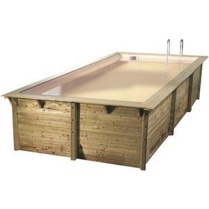 PISCINE UBBINK Piscine rectangulaire en bois Azura 350x505