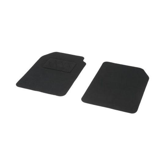 Jeu de 2 tapis moquette avant noir pour voiture qualité 600 grs//m² universel
