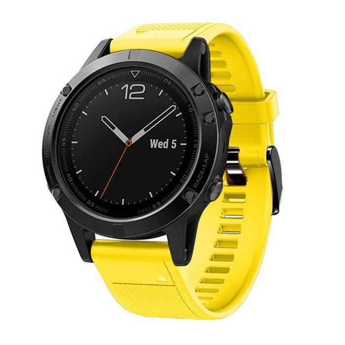 bracelet de montre vendu seul Bracelet de remplacement en silicone pour montre intelligente Garmin Fenix 5-5 Plus