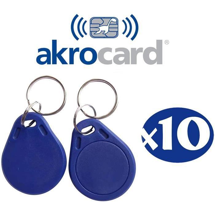 Porte-clés homme Porte-clés RFID 1K - RFID ISO14443A - 13,56 MHz ABS IC NFC pour contrôle d'accès - Résistant à l'eau (P 97938