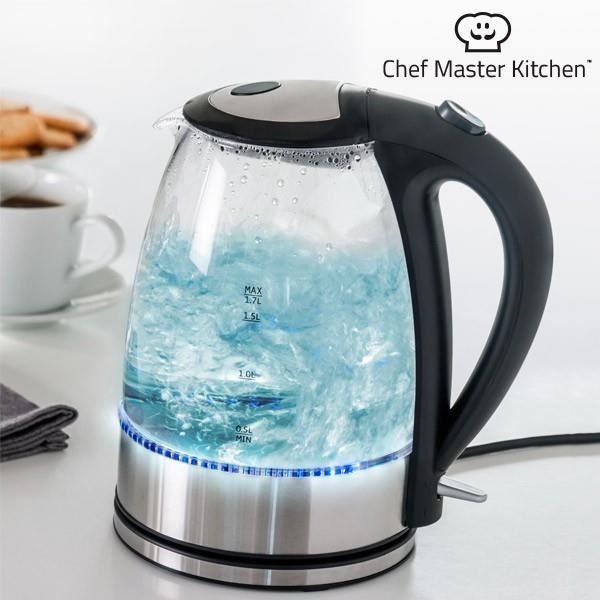 Bouilloire Électrique à LED Chef Master Kitchen