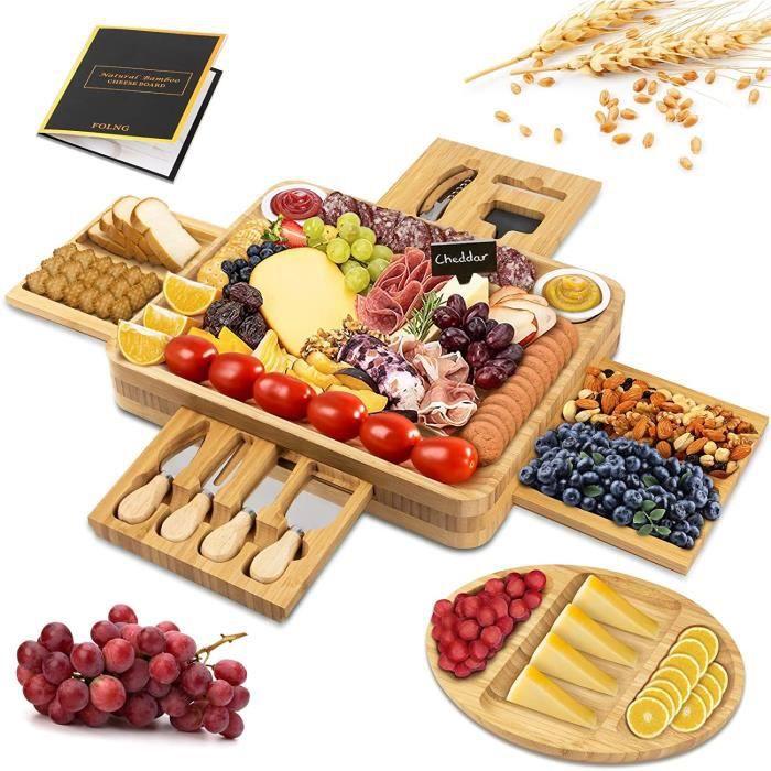 Bambou Planche à Fromage, Bambou Planche pour Couper Les Fruits et Les Aliments61