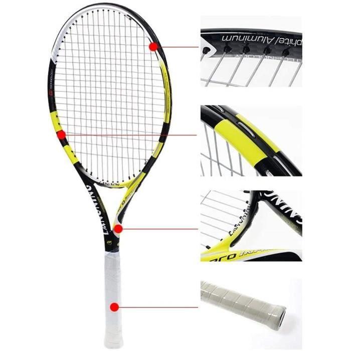 Hommes Et Femmes Spécial Raquettes Compagnons Tennis Jaune Collège Rackets Formation (Color : Yellow, Size : 69.2cm)287