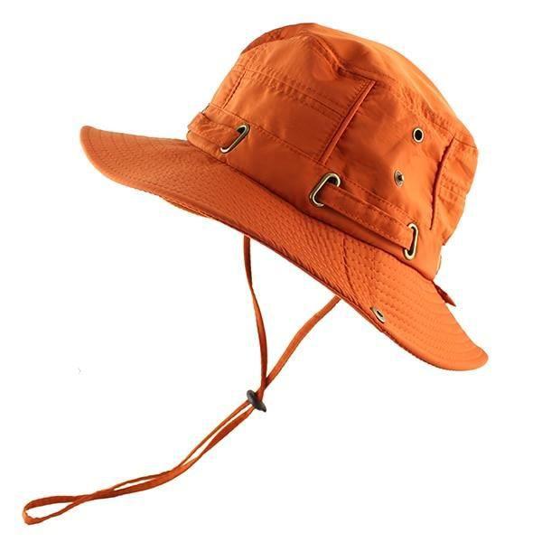 CAMOLAND chapeau à soleil d'été, UPF 50 + Protection UV en plein air, chapeau de randonnée pour l Orange