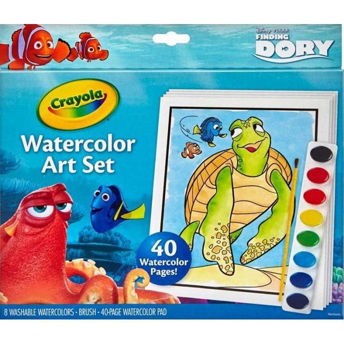 CRAYOLA Finding DORY Set de Peinture, coloriage peintures à l'eau lavables, dessin