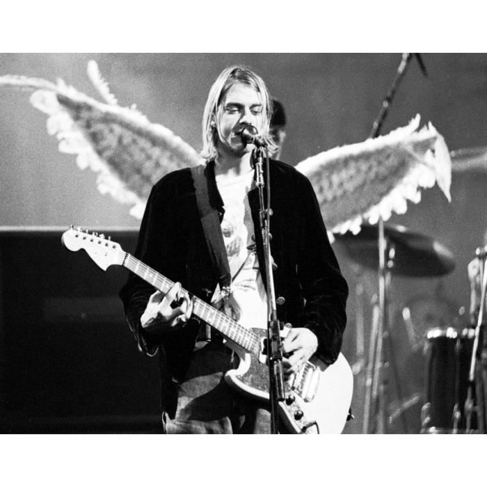 Poster Affiche Kurt Cobain Ange Nirvana Live Picture Grunge Rock Concert 42cm x 54cm