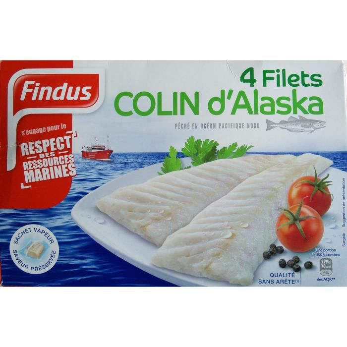 Filets colin d'Alaska x4 Findus