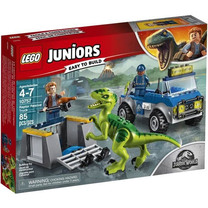 LEGO® Juniors Jurassic World™ 10757 Le Camion De Secours Des Raptors - Jeu de construction