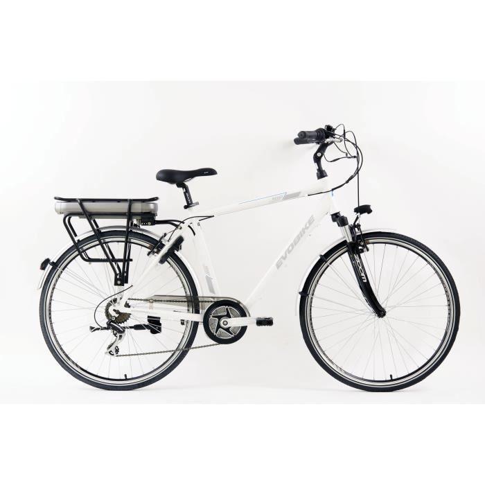 Vélo Evobike - Assistance électrique - Roues 28- - MINERVA - Homme - Blanc