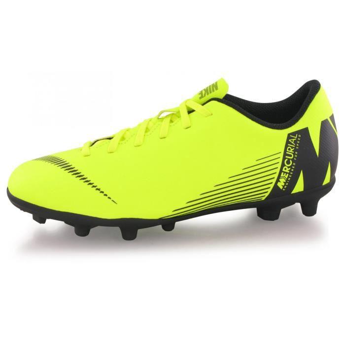 Chaussures Nike Vapor 12 Club Gs Fg/mg Jaune Enfant