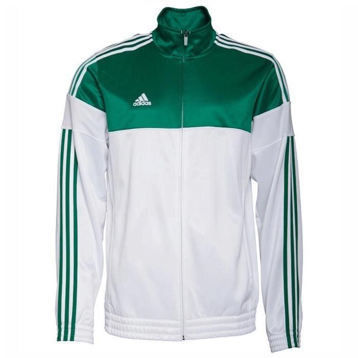 Veste de survêtement rétro Homme 3 stripe Warm-Up Jacket Blanc vert