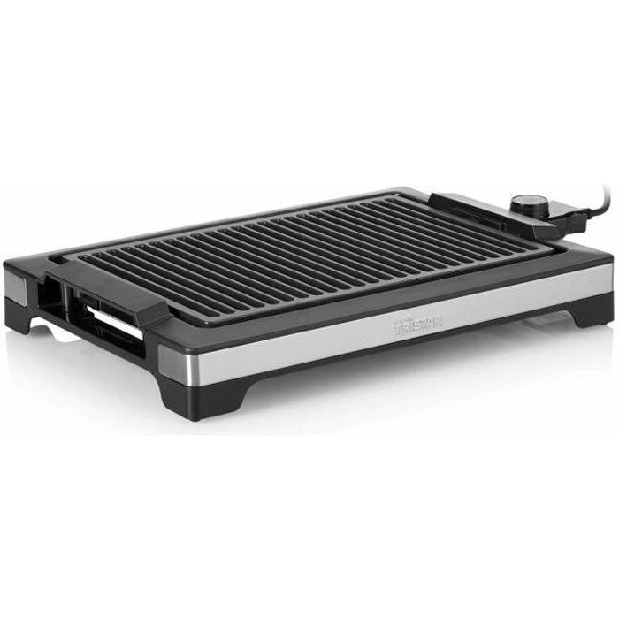 Tristar Plancha et Barbecue Électrique de Table Sans Fumée BBQ Maison Party Fête électrique 2000 W 37x25 cm Noir