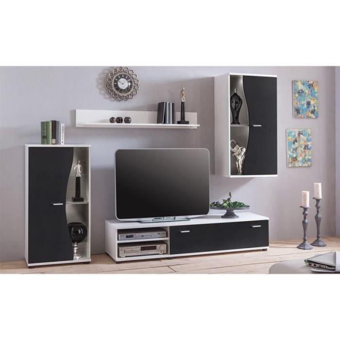 Ensemble Meuble Tv Design -alby- 243cm Noir - Paris Prix