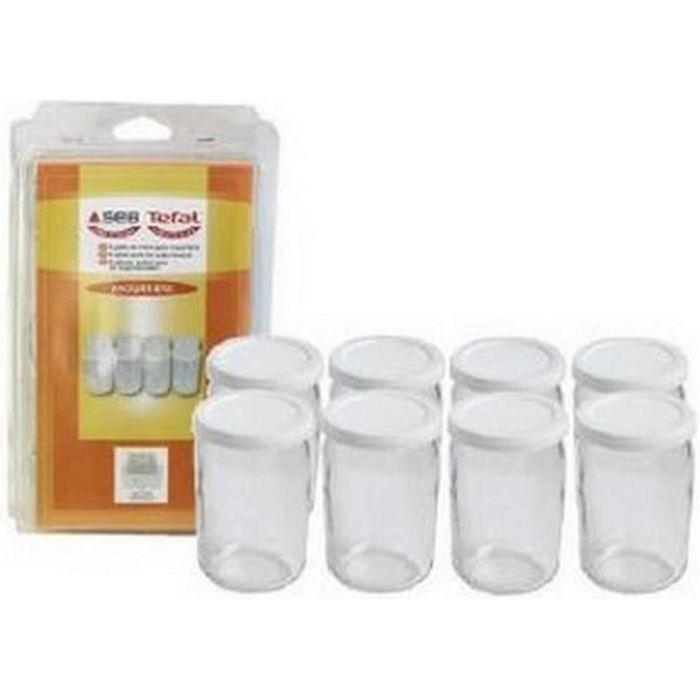 8 pots verre avec couvercle (201860-8609) - Yaourtière - SEB (14465)
