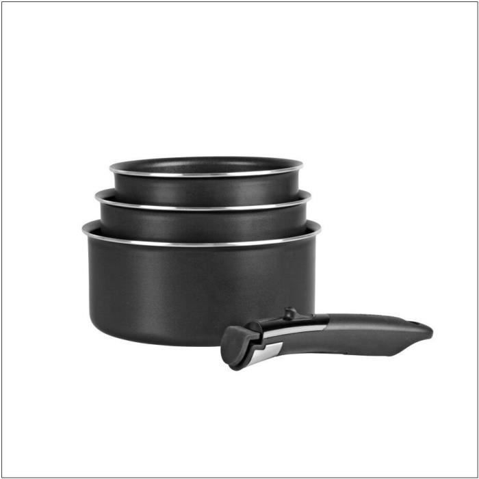 SITRAMOVIBLE BLACK PEPPER - 713775 - 3 casseroles - Tous feux dont induction