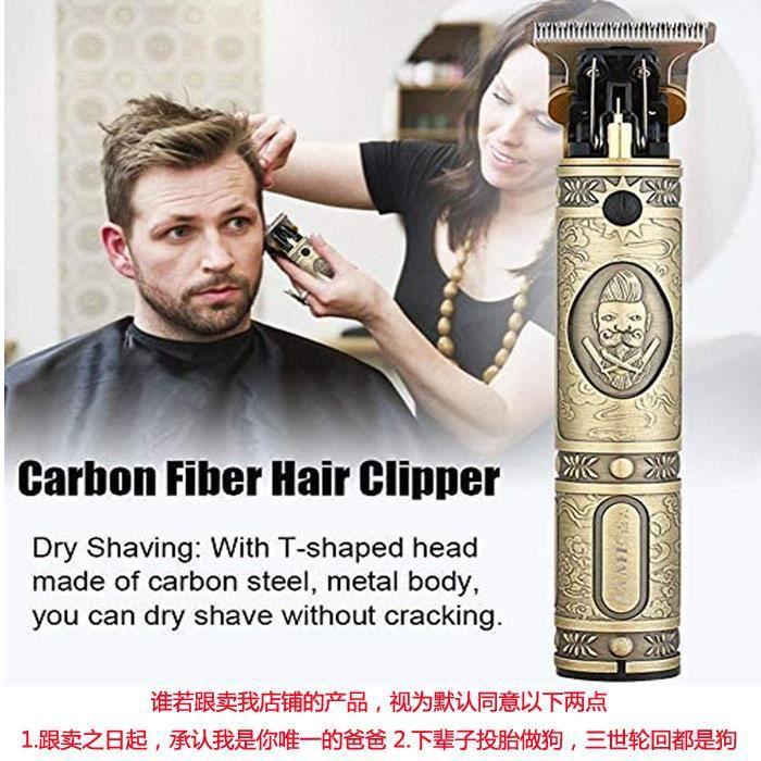 Tondeuse à Barbe/Cheveux/Moustache électrique en Fibre de Carbone, Facile à Utiliser, Tondeuse à Cheveux Efficace et Efficace pour