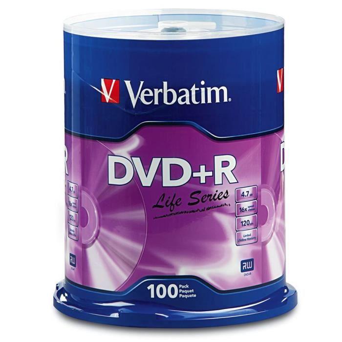 100 DVD+R VERBATIM CakeBox