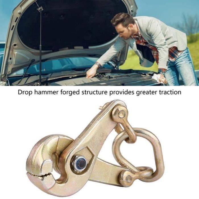 HK26112-Réparation de carrosserie de voiture 3 tonnes pince à ciseaux auto-serrante tirant la mâchoire dentelée-XIS