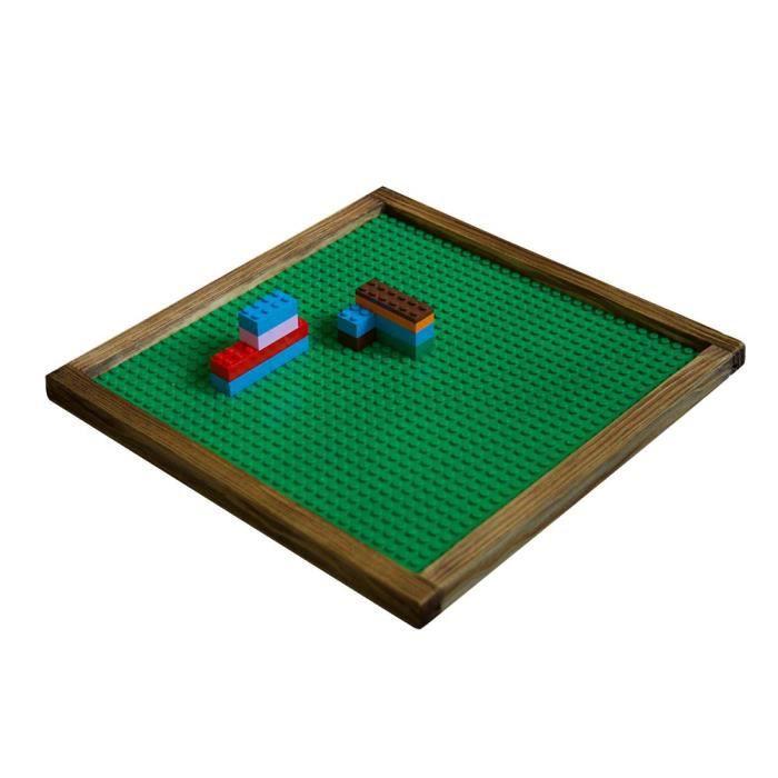 ASSEMBLAGE CONSTRUCTION Lego en bois Plateau Compatible avec cadre en plas