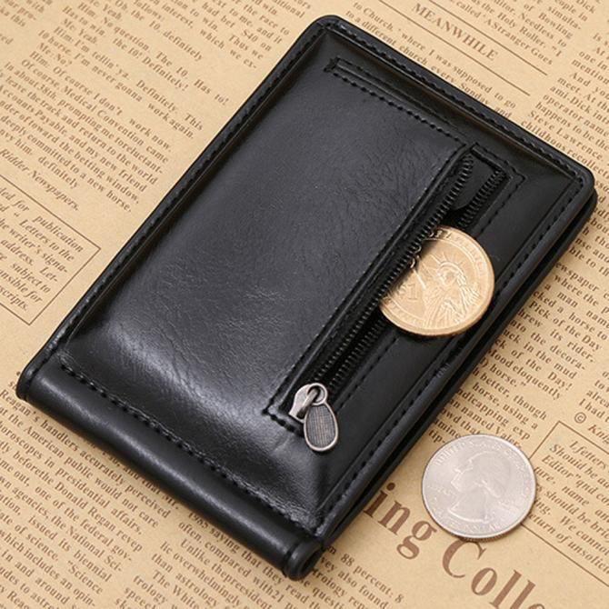 Noir Mini Porte-monnaie cuir münzbörse Portefeuille Porte Monnaie petit münzbeutel