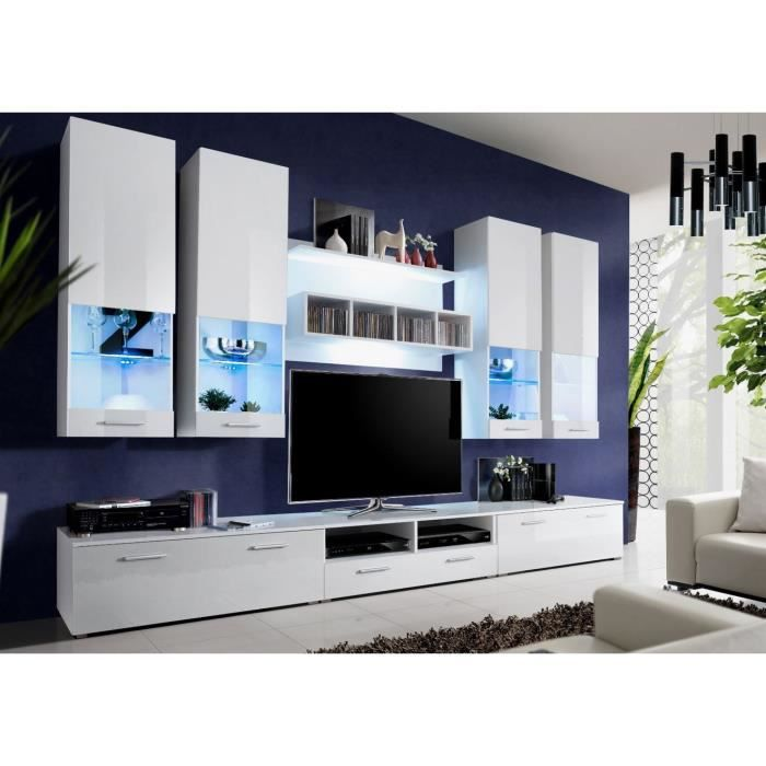 ensemble meuble tv lumineux belco 50 achat vente. Black Bedroom Furniture Sets. Home Design Ideas