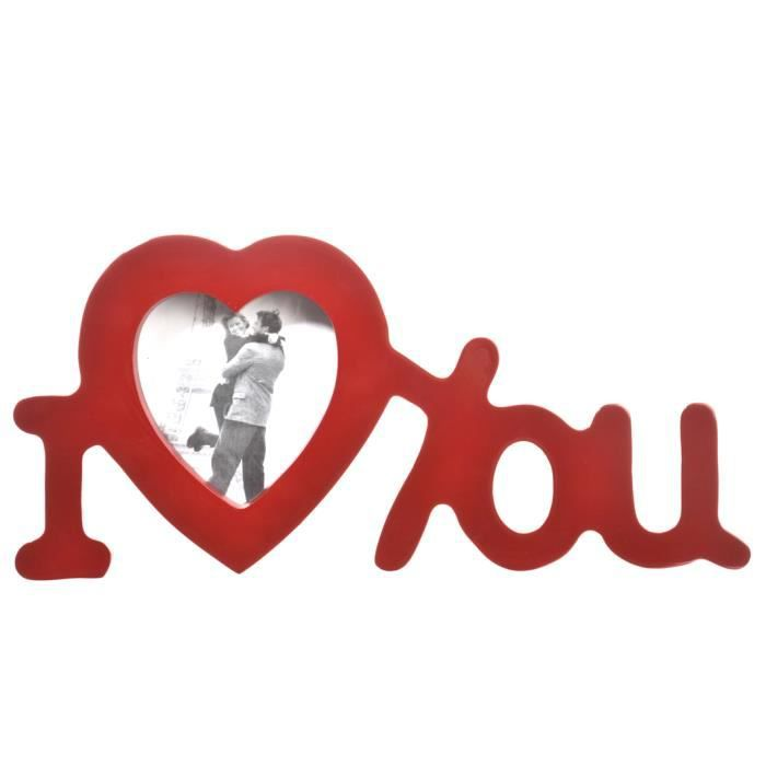 Cadre photo i love you coloris rouge achat vente cadre photo cdiscount - Cadre photo rouge design ...