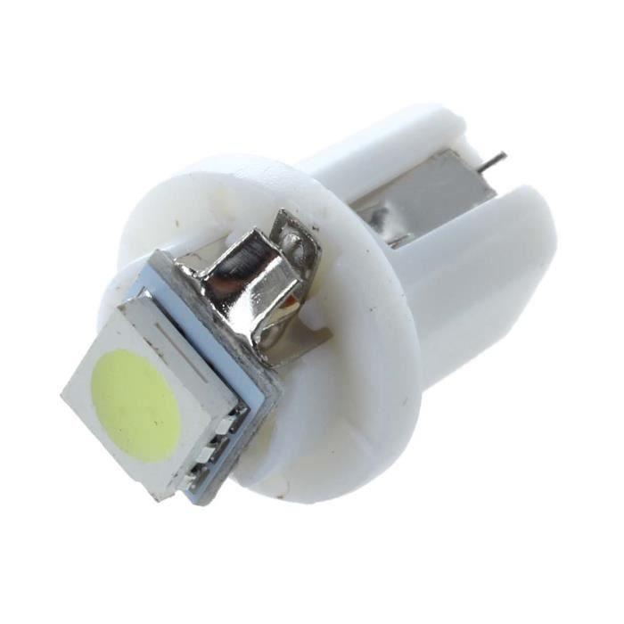 SODIAL 10x T5 W1.2W W3W 1 SMD Tableau de bord LED lampe en forme de wedge a linterieur de voiture de 12V vert