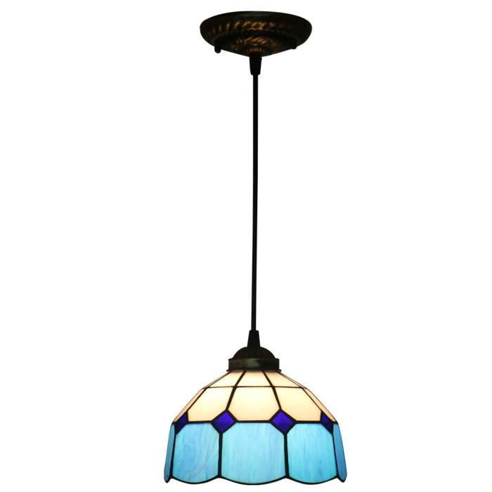 Suspension Tiffany fabakira lustre style 8 pouces tiffany lampe libellule rustique